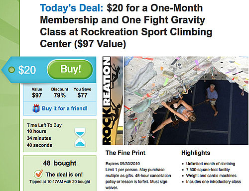 Use Collective Buying Websites Like Groupon to Save on Fitness