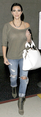 Kim Kardashian Wears Balmain at LAX