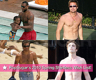 Photos of Shirtless Robert Pattinson, Jake Gyllenhaal, Brad Pitt, and Usher