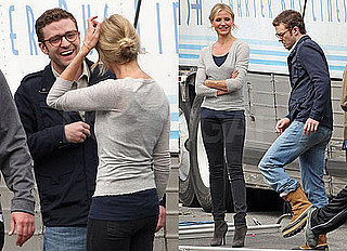 Photos of Justin Timberlake and Cameron Diaz Laughing Together on the Set of Bad Teacher in LA