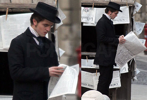 Photos of Robert Pattinson Filming Bel Ami in London Amid Breaking Dawn Director Bill Condon News