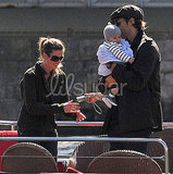 Tom Brady and Gisele Bundchen Take Ben on the Seine
