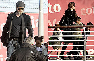 Pictures of Angelina Jolie, Brad Pitt, Shiloh, Zahara, Pax, and Maddox Jolie-Pitt on a Boat Ride
