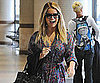 Slide Picture of Jessica Simpson Walking Through LAX in a Long Floral Dress