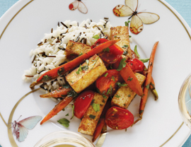 Wild Rice With Glazed Carrots and Tofu Recipe