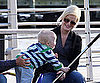 Slide Picture Amy Poehler and Archie Playing at a Park