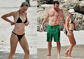 Pictures of Naomi Watts in a Black Bikini While on Vacation in Barbados With Liev, Sasha, And Samuel Schreiber