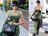 Pictures of Paris Hilton Shopping in Green