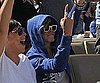 Slide Picture of Rihanna at Dodgers Game