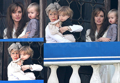 Pictures of Angelina Jolie With Knox, Vivienne, And Jane Pitt in Venice