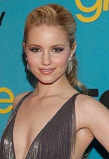 Glee Star Dianna Agron Wears a Dary Gray Gown and Cluster Chain Earrings at Bar Marmont Party
