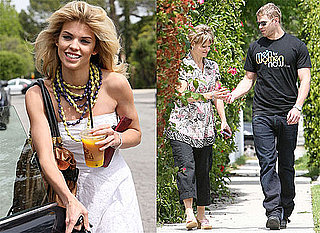 Pictures of Kellan Lutz and AnnaLynne McCord Eating Lunch With His Mom in LA