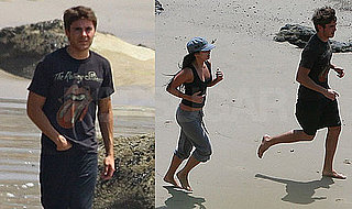 Pictures of Zac Efron and Vanessa Hudgens Playing in the Ocean Together