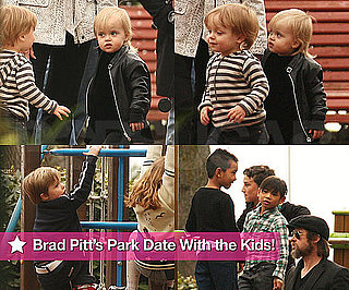 Pictures of Brad Pitt's Park Date With the Kids!