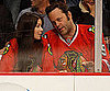 Slide Picture of Vince Vaughn and Kayla Weber at Hockey Game
