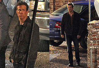 Pictures of Ryan Reynolds Filming Green Lantern