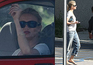 Pictures of Cameron Diaz Filming Bad Teacher in LA