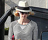 Slide Picture of January Jones Leaving Her House