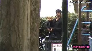 Video of Brad Pitt and His Kids at a Park in Italy