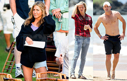 Pictures of Jennifer Aniston, Brooklyn Decker, And Adam Sandler Filming Just Go With It; Andy Roddick Shirtless