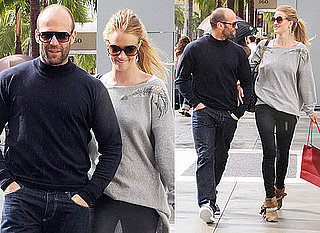 Photos of Jason Statham Cuddling Up to New Girlfriend Rosie Huntington-Whiteley in LA After Coachella Festival