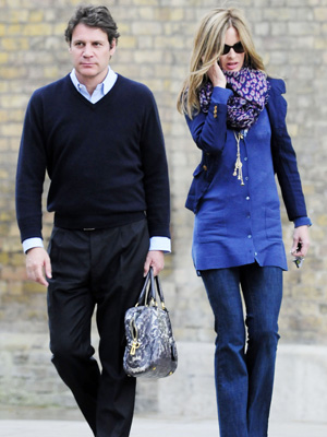Trinny Woodall's Male Friend Carries Her Handbag