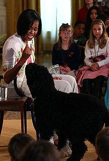 Pictures of Michelle Obama and Dog Bo