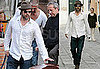 Pictures of Brad Pitt Walking in Venice Solo