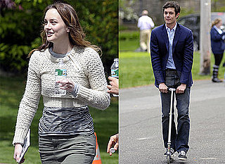 Pictures of Adam Brody, Leighton Meester, and Allison Janney on the Set of The Oranges