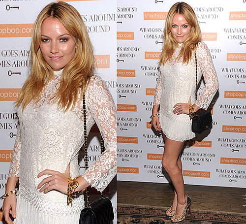 Pictures of Becki Newton in Dolce & Gabbana Dress at What Goes Around Comes Around Party in NYC