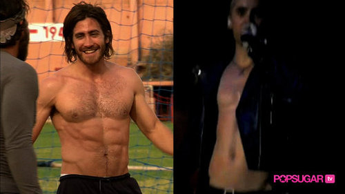 Shirtless Jake Gyllenhaal and Jared Leto Abs