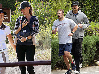 Pictures of Gisele Bundchen and Tom Brady Exercising in LA With Baby Benjamin