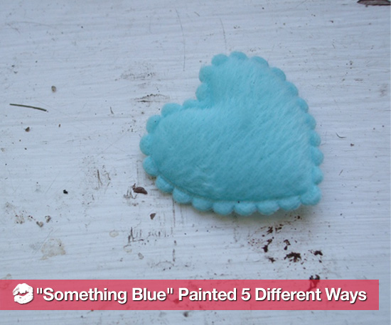 """Something Blue"" Painted 5 Different Ways"