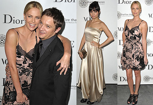 Pictures of Charlize Theron and Jeremy Renner with Nicole Richie at Africa Outreach Dinner 2010-04-28 20:30:28