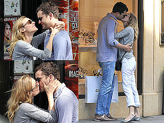 Pictures of Joshua Jackson and Diane Kruger Kissing and Shopping in Paris