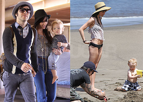 Pictures of Pete and Bronx Wentz and Ashlee Simpson in a Bikini in Hawaii