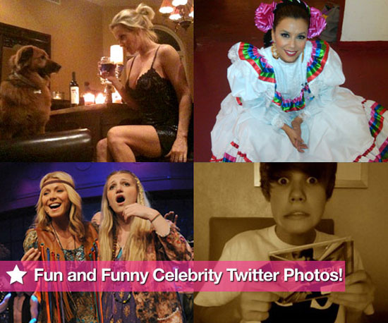 Jenny McCarthy, Justin Bieber, Eva Longoria, and Kelly Ripa in This Week's Fun and Funny Celebrity Twitter Photos!