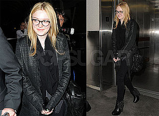 Pictures of Dakota Fanning Leaving LAX