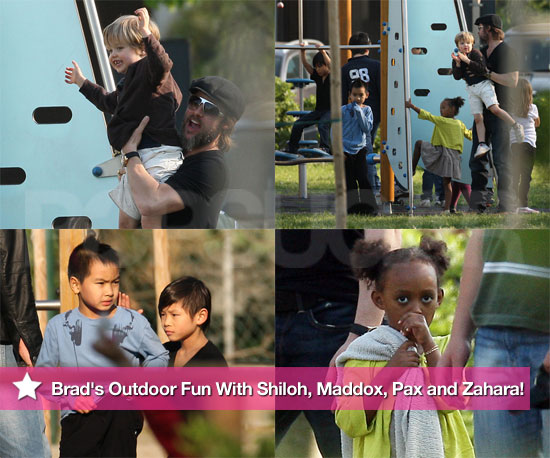 Photos: Brad's Outdoor Fun With Shiloh, Maddox, Pax and Zahara!