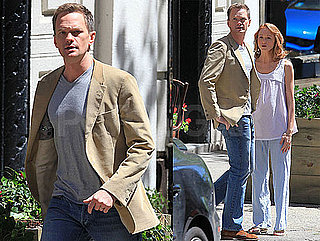 Pictures of Neil Patrick Harris And Jayma Mays Filming the Smurfs in NYC