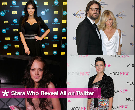 Celebrity Oversharers on Twitter