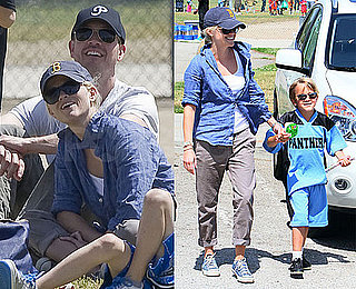 Pictures of Reese Witherspoon and Jim Toth Watching Deacon Play Football