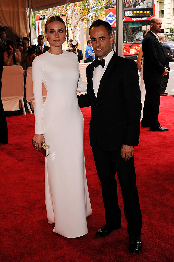 Diane Kruger in Calvin Klein Collection with Francisco Costa