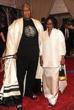 Andre Leon Talley and Whoopi Goldberg in Chado Ralph Rucci