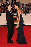 Francisco Costa and Zoe Saldana in Calvin Klein Collection