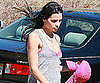 Slide Picture of Jenna Dewan Walking Her Dog in LA