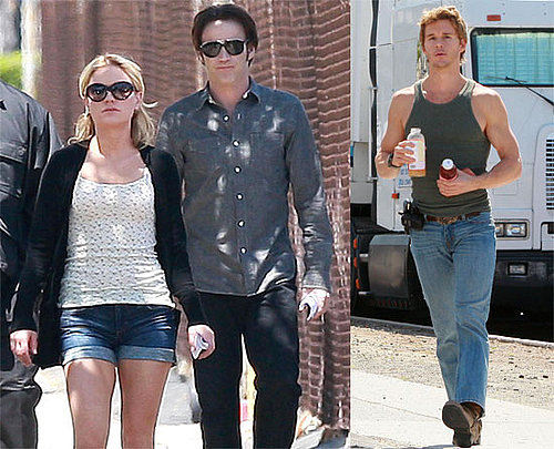 Pictures of Anna Paquin, Stephen Moyer and Ryan Kwanten Filming True Blood in LA