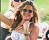 Slide Picture of Jennifer Aniston Riding A Golf Cart in Hawaii