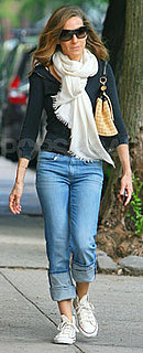 Sarah Jessica Parker in Rolled Jeans and Chuck Taylors