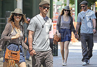 Pictures of Justin Timberlake and Jessica Biel Walking in New York